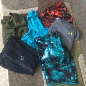 Bundle of youth XL Under Armour sweatshirts